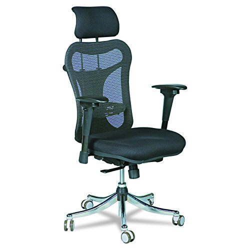 balt office chair ergonomics Balt Ergo EX Executive Mesh Office Chair, Ergonomically Adjustable, 28-Inch by 24-Inch by 51-Inch, Black (34434)