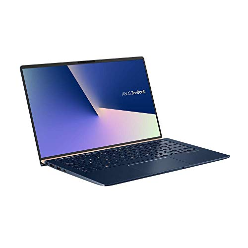 ASUS Computer ZenBook 14 UX433FN (90NB0JQ2-M04820) 35,5 cm (14 Zoll, FHD, WV) Ultrabook (Intel Core i7-8565U, 16GB RAM, 512GB SSD, NVIDIA GeForce MX150 (2GB), Windows 10) Royal Blau