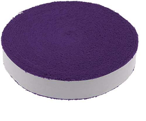 PRIDE S 10m Anti Slip Grip Grueso Rollo de Toallas for el Tenis Squash Raqueta de bádminton Raqueta sobre apretones de reemplazo (Color : Purple)