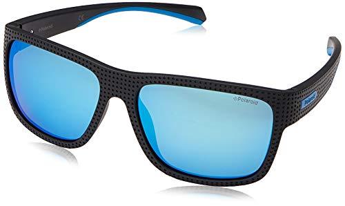 Polaroid Herren PLD 7025/S Sonnenbrille, BLKTURQUO, 58