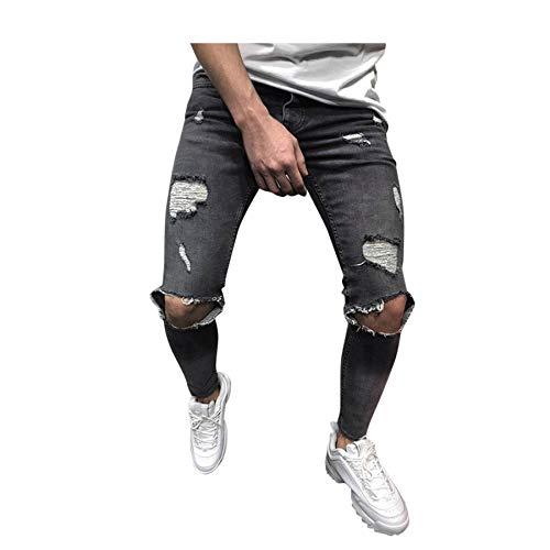 baratos y buenos Vaqueros para hombre VPASS, pantalones casuales Vaqueros jogger con labios de moda Pantalones largos de moda … calidad