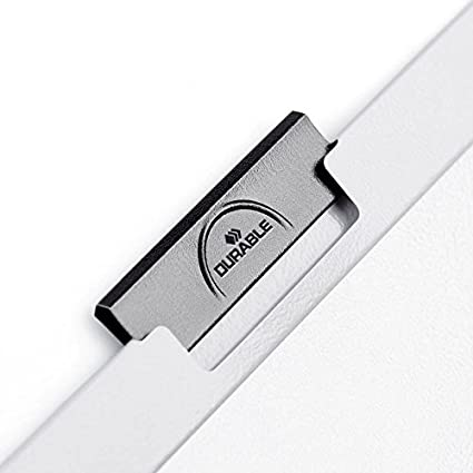 Grey Durable Duraclip 2200//57 Clip File for 1-30 Sheets A4