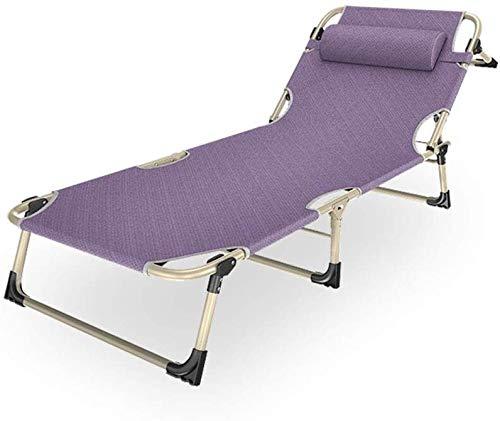 Multifunción conveniente pausa para el almuerzo de oficina silla reclinable plegable almuerzo siesta mujeres embarazadas descansan las personas que llevan folletos,Purple
