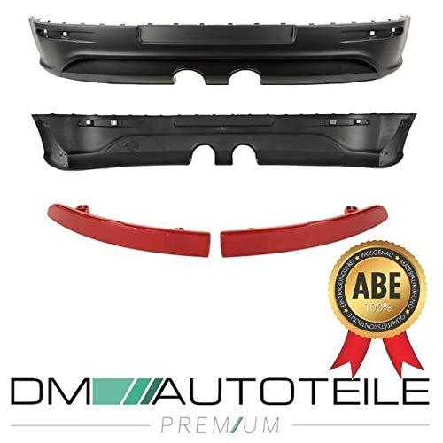 DM Autoteile Heckansatz Diffusor Duplex Stoßstangeneinsatz für Golf 5 V R32 Umrüstung+ABE
