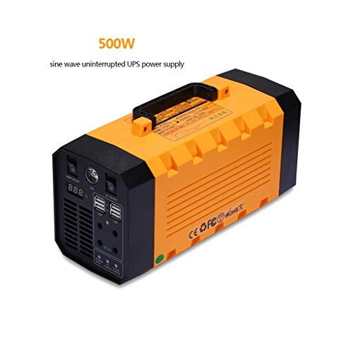 HUO FEI NIAO Bewegliches Kraftwerk 500W, 288WH tragbaren Solar-Generator Lithium-Batterie-Backup-Energien-Inverter mit 2 220V AC Steckdose, 2 DC, 4 USB for Heim- und Outdoor-Camping-Notfall
