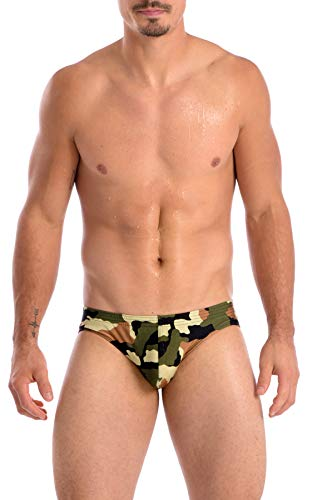 Gary Majdell Sport Mens Green Camouflage Counter Pouch Bikini Swimsuit Size Medium