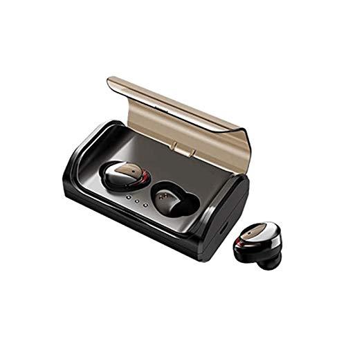 WPYYI Bluetooth Wireless Auriculares, Auriculares Auriculares en la Oreja de Carga inalámbricas con la Caja, Auricular de Coches for el Coche, Correr, micrófono Incorporado