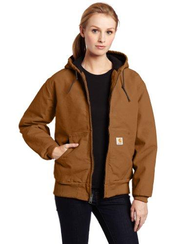 Carhartt Damen gefütterte Sandstone Active Jacke WJ130 - Braun - XX-Large