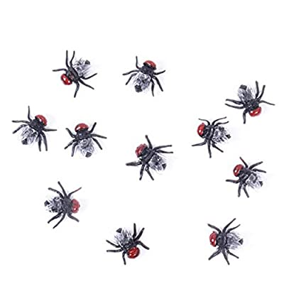 Wendy Mall 20 Pcs Novelty Lifelike Plastic Fake Fly Kidding Prank Fly Bugs Realistic Insects Gag Joke Gifts for April Fool Halloween and Party Prop