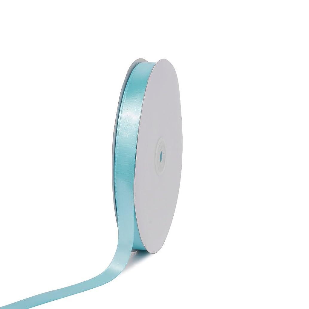 Creative Ideas PSF0508-314 Solid Satin Ribbon, 5/8-Inch by 100 Yard, Aqua, Solid