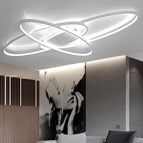 Dimmbare moderne LED- Deckenleuchten für Wohnzimmer Schlafzimmer Arbeitszimmer Home Deco Deckenleuchten Leuchten 110V 220V-Weiß Color_L1270xW780mm_Dimmable RC