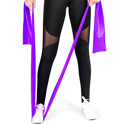 CoutureBridal Resistance Bands, Professional Exercise Bands Long Natural Latex Elastic Bands, Perfect for Strength Training, Physical Therapy, Yoga, Pilates, Stretching (Purple)