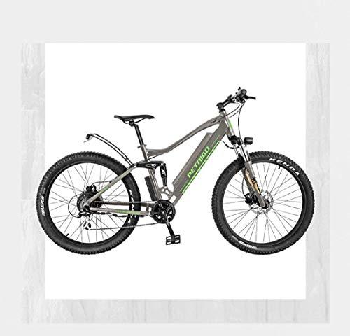 Ligero, Adulto 27,5 pulgadas de bicicletas de montaña eléctrica, suspensión todo terreno aleación de aluminio bicicleta eléctrica de 7 velocidades, con pantalla LCD multifunción Liquidación de inventa