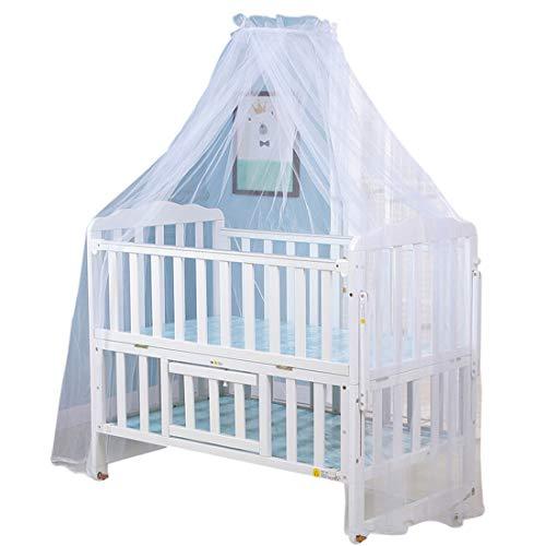 Bverionant Babybett Moskitonetz Betthimmel für Kleinkind Bett Kinderbett Himmel Moskitonetz Insektenschutz für Baby #1 Eine Grösse