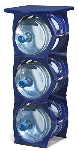 U Water Cooler Bottle Rack (Blue, Three Bottle Rack with Shelf)