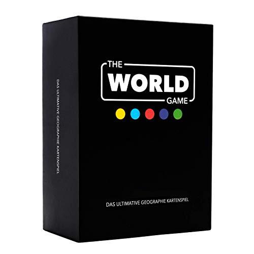 The World Game – Geografie Kartenspiel – Lernspiel für Kinder, Familie und Erwachsene - Welt Brettspiele für 2 - 6 Personen - Deutsche Version