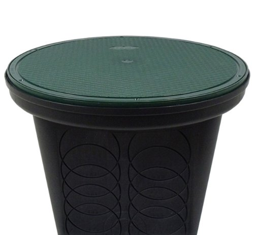Storm Drain 20' Round Catch Basin Drain Box With Solid Lid (1)