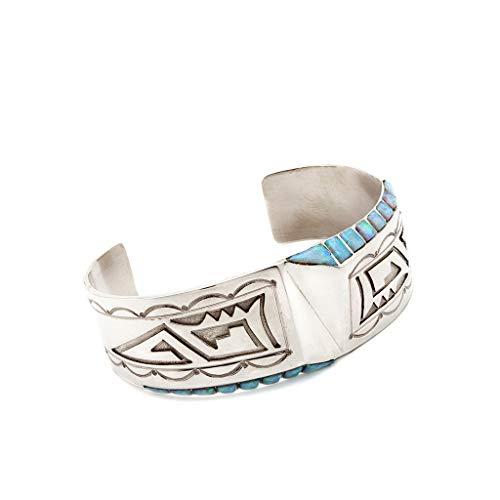 Navajo Opal Armreif Sterling Silber Indianerschmuck Westernschmuck PN051
