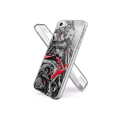 XaNChVlI Compatible con iPhone 5S Funda, iPhone SE Funda Ultra Thin Crystal Clear TPU de Silicona con Estilo patrón Funda Protectora para el iPhone 5S / iPhone SE (2016) #A010