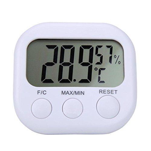 Gaddrt Thermomètre intérieur numérique à cristaux liquides hygromètre jauge d'humidité horloge
