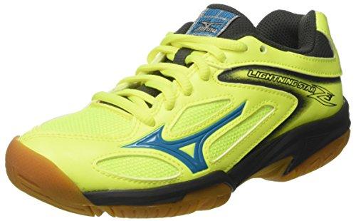 Mizuno Lightning Star Z3 Jnr Indoor-Schuhe, Multisport, Unisex, Kinder, Mehrfarbig - Multicolore Safetyyellowatomicblue Darkshadow - Größe: 36.5 EU