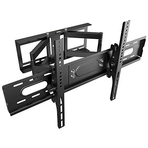 RICOO Fernseher TV Wand-Halterung Schwenkbar Neigbar (R28-XL) Fernsehhalterung Universal für 42-75 Zoll (bis 75-Kg, Max-VESA 600x400) Curved LCD OLED Bildschirm