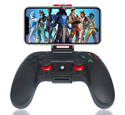 Maegoo Manette pour Android sans Fil, Bluetooth Mobile Android Manette Gamepad Joystick avec Phone Bracket Compatible pour Android Telephone Tablette Smartphone