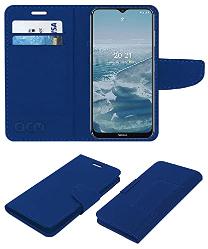 Acm Leather Flip Wallet Front & Back Case Compatible with Nokia G20...