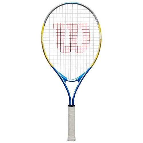 Wilson US Open 25, WRT20330U Raqueta de tenis a partir de 3 años, hasta 100 cm de altura Unisex Ninos, Blanco / Verde