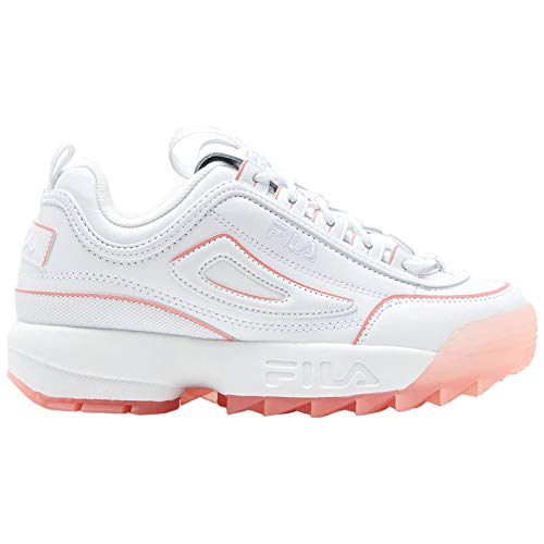 Fila Mujer Disruptor II Ice Leather Synthetic White Peony Entrenadores 38.5 EU