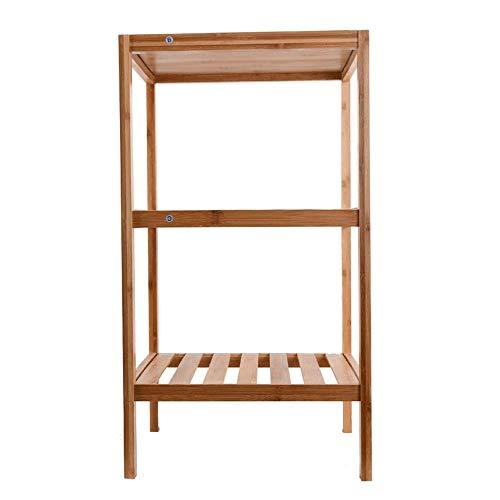ShiSyan Los estantes de almacenamiento de calzado Bastidores de madera Puerta de entrada zapatero, organizador del armario de estantes de 3 niveles con patas (color: el color de madera maciza, Tamaño:
