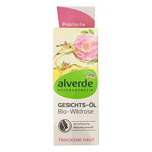 alverde NATURKOSMETIK Gesichtsöl Bio-Wildrose für Trockene Haut (15ml)