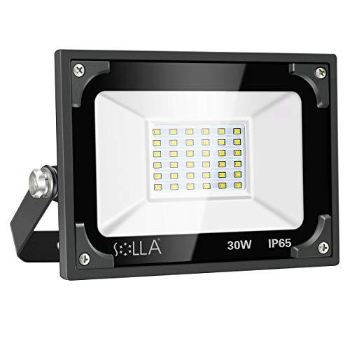 Fari di sicurezza 30W, Riflettore LED super Luminoso 2400lm, 5000K Bianco Diurno, Riflettore per esterni, Giardino, Garage, Tetto, Patio