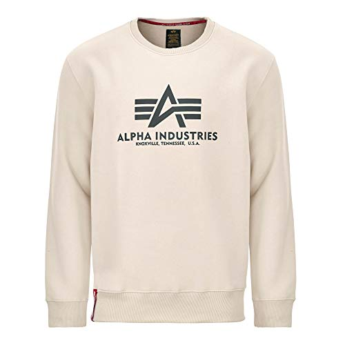 ALPHA INDUSTRIES Mens 178302578-jet-stream-white-2 XL Sweatshirt, Jet Stream White, XXL