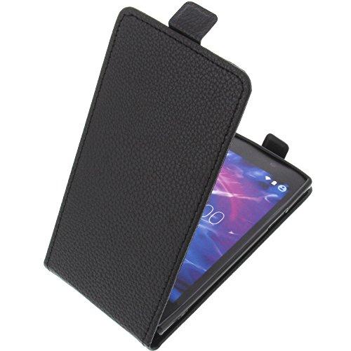 foto-kontor Tasche für MEDION Life E5005 Smartphone Flipstyle Schutz Hülle schwarz