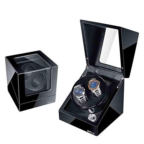 LY88 Automatische Horloge Box Rewinder, Automatische Horloge Winder Box Dubbele Opslag Display Box met Piano Verf Extreem Rustige Motor, Beste Geschenken