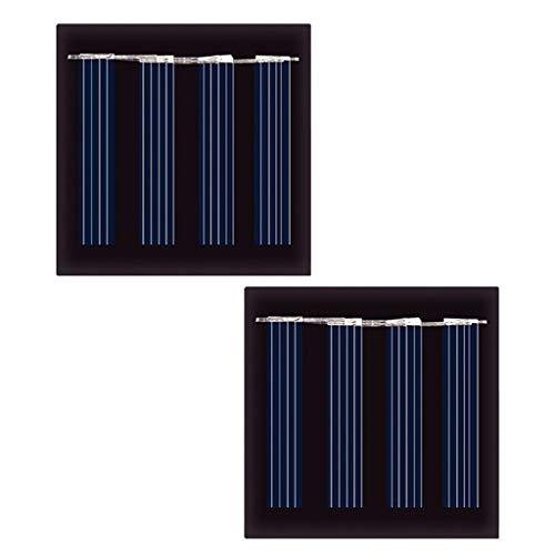 FLAMEER Mini Solarpanel Solarmodul 2er Set Polykristalline Solarzelle Solar Modul für Modellbau DIY - 120 mA - 2 V