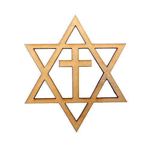 Star of David With Cross Ornament - Hanukkah Ornament - Hanukkah Gift - Hanukkah Decoration - Chanukah Gift