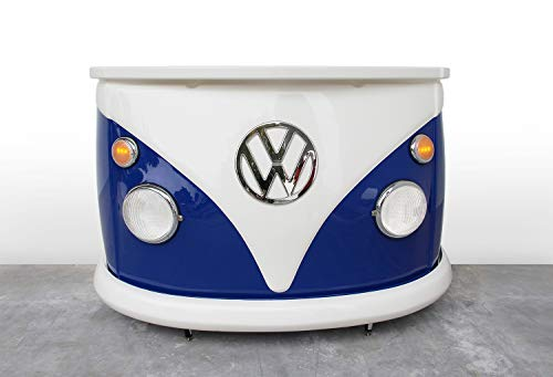 BRISA VW Collection Volkswagen Bar Theke der VW Bus T1 Front in Originalgröße 168x110x65 cm (Blau/Weiß)