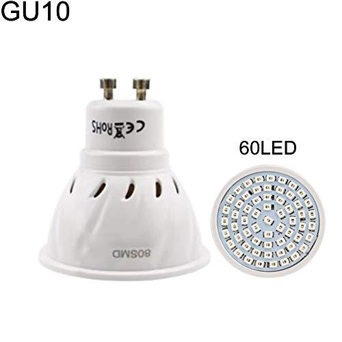 P12cheng Pflanzen-Leuchtmittel, rot-blaues Vollspektrum, 220 V, LED, für den Innen- und Außenbereich geeignet, 60 LEDs, GU10