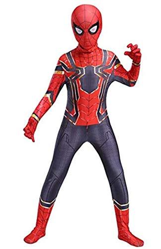 Cosplay Costume Kids Superhero Suits Halloween 3D Style Bodysuit (Kids-XS(Height 37-42Inch), Red)