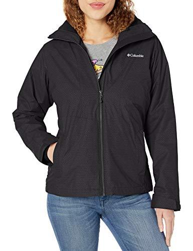 Columbia Women's Plus Size Ruby River Interchange Jacket, Black Sparkler Print, 2X