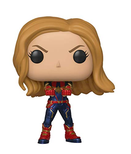 Funko- Pop Bobble: Avengers Endgame: Captain Marvel Capitana Collectible Figure, Multicolor, Estándar (36675)