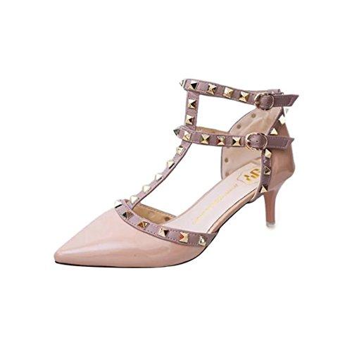 YIBLBOX Damen Niets Ankle Strap Stilett Partyschuhe Schuhe High Heels Kleid-Partei Pumps Sandalen