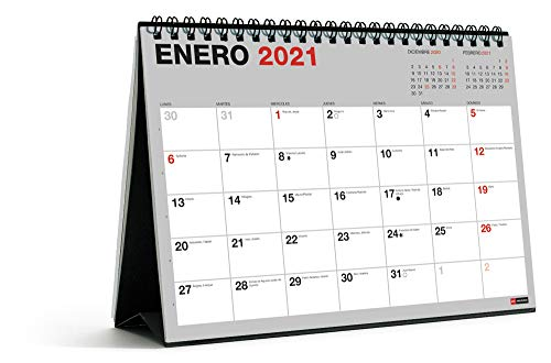 Miquel Rius - Calendario de Sobremesa 18 meses 2021 Basic - Español, A5 210 x 148,5 mm con espacio para escribir y apuntar, Un color por mes