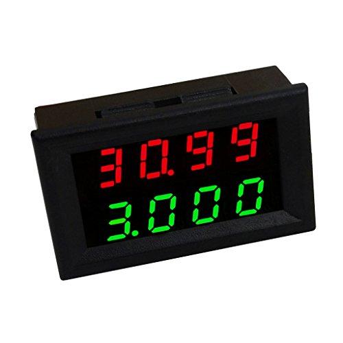 Preisvergleich Produktbild MagiDeal Mini Digital Voltmeter DC 3, 5-28 V Amperemeter Panel Meter Spannungsanzeige Messer - Dual LED Display - Grün