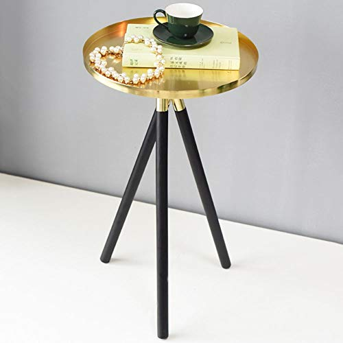 Asncnxdore. Goldene Nordic Stil Einfache kreative Wohnzimmer-Sofa-Ecke Schlafzimmer Kleine Beistelltisch Couchtisch Modell Raum Weiche 32 * 55,5 (cm)