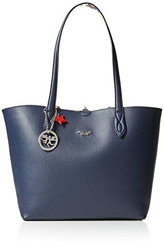 piero guidi Tote Bag + Busta, Borsa Donna, (Blu), 34,5x29,5x14 cm (W x H x L)