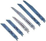 BOSCH 2607010907 - Pack de 6 Hojas para sierra de sable + estuche de almacenamiento: Set Demolition: Heavy Wood, Metal: 6 uds