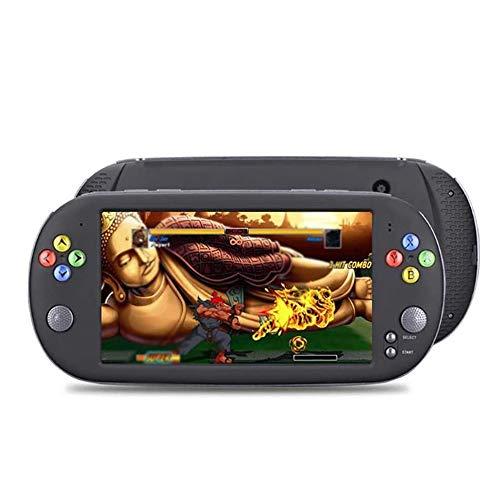 CHENC Consola De Juegos Portátil, 7 Pulgadas De Pantalla Retro PSP Portable De Los Juegos Clásicos De DVD Incorporado En La Memoria 8G
